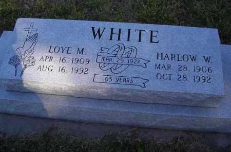 WHITE, LOYE M. - Lincoln County, Nebraska | LOYE M. WHITE - Nebraska Gravestone Photos