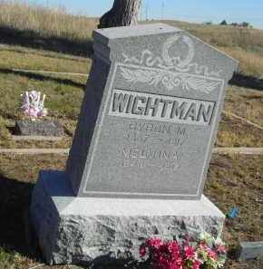 WIGHTMAN, BYRON M. - Lincoln County, Nebraska | BYRON M. WIGHTMAN - Nebraska Gravestone Photos