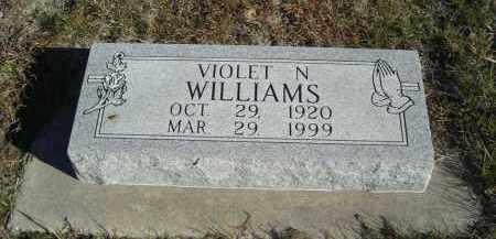 WILLIAMS, VIOLET N. - Lincoln County, Nebraska   VIOLET N. WILLIAMS - Nebraska Gravestone Photos