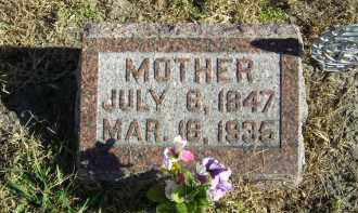 WILLIAMS, WIFE OF GEORGE S. - Lincoln County, Nebraska | WIFE OF GEORGE S. WILLIAMS - Nebraska Gravestone Photos