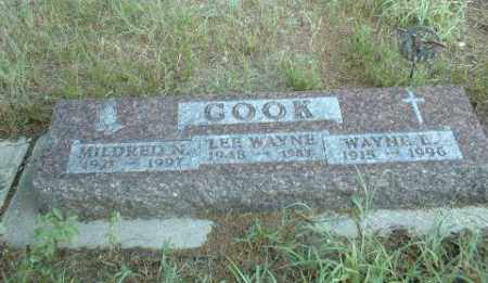 COOK, MILDRED - Loup County, Nebraska   MILDRED COOK - Nebraska Gravestone Photos