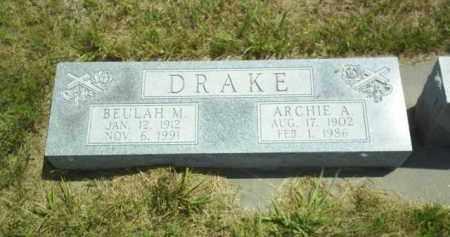 DRAKE, ARCHIE - Loup County, Nebraska | ARCHIE DRAKE - Nebraska Gravestone Photos