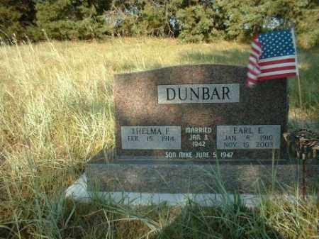DUNBAR, EARL - Loup County, Nebraska | EARL DUNBAR - Nebraska Gravestone Photos