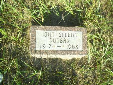 DUNBAR, JOHN SIMEON - Loup County, Nebraska   JOHN SIMEON DUNBAR - Nebraska Gravestone Photos
