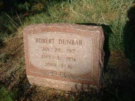 DUNBAR, ROBERT - Loup County, Nebraska | ROBERT DUNBAR - Nebraska Gravestone Photos