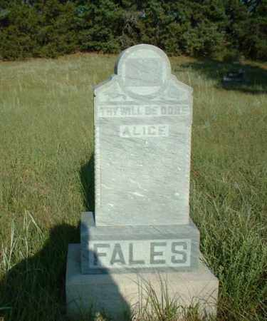 FALES, ALICE - Loup County, Nebraska | ALICE FALES - Nebraska Gravestone Photos