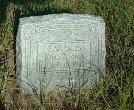 FALES, E.W. - Loup County, Nebraska | E.W. FALES - Nebraska Gravestone Photos