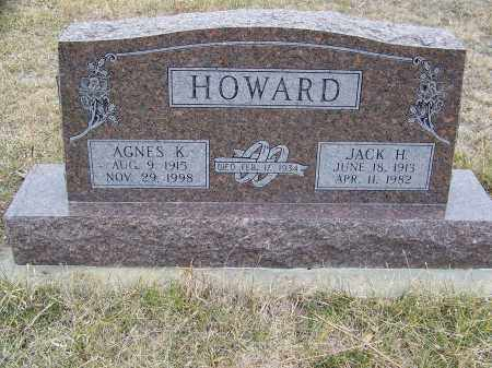 HOWARD, JACK HAROLD - Loup County, Nebraska | JACK HAROLD HOWARD - Nebraska Gravestone Photos