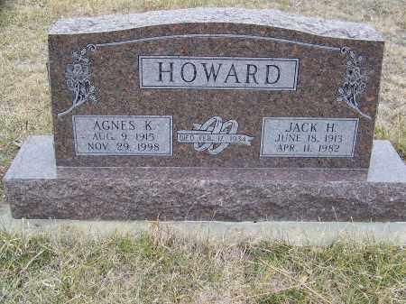 HOWARD, AGNES KATHERINE - Loup County, Nebraska | AGNES KATHERINE HOWARD - Nebraska Gravestone Photos