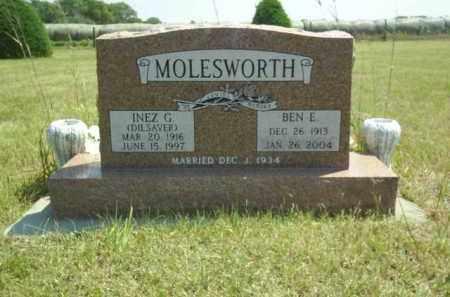 DILSAVER MOLESWORTH, INEZ - Loup County, Nebraska | INEZ DILSAVER MOLESWORTH - Nebraska Gravestone Photos