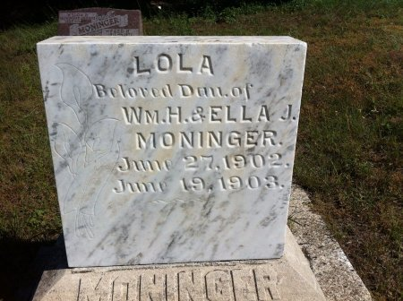MONINGER, LOLA - Loup County, Nebraska | LOLA MONINGER - Nebraska Gravestone Photos