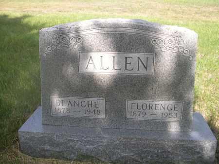 ALLEN, FLORENCE - McPherson County, Nebraska | FLORENCE ALLEN - Nebraska Gravestone Photos