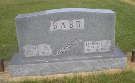 BABB, NELLIE M. - McPherson County, Nebraska | NELLIE M. BABB - Nebraska Gravestone Photos