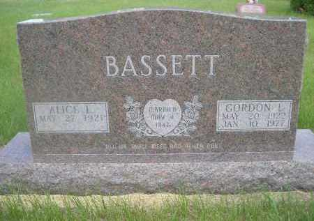 BASSETT, GORDON L. - McPherson County, Nebraska | GORDON L. BASSETT - Nebraska Gravestone Photos