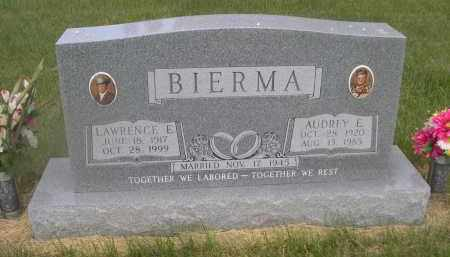 BIERMA, LAWRENCE E. - McPherson County, Nebraska | LAWRENCE E. BIERMA - Nebraska Gravestone Photos