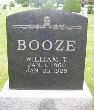 BOOZE, WILLIAM T. - McPherson County, Nebraska | WILLIAM T. BOOZE - Nebraska Gravestone Photos