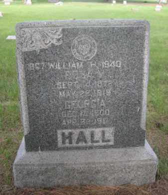 HALL, WILLIAM H. - McPherson County, Nebraska | WILLIAM H. HALL - Nebraska Gravestone Photos