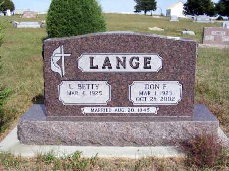 LANGE, L. BETTY - McPherson County, Nebraska | L. BETTY LANGE - Nebraska Gravestone Photos