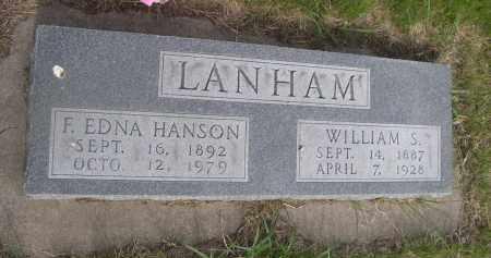 HANSON LANHAM, F. EDNA - McPherson County, Nebraska | F. EDNA HANSON LANHAM - Nebraska Gravestone Photos