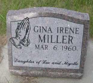 MILLER, GINA IRENE - McPherson County, Nebraska | GINA IRENE MILLER - Nebraska Gravestone Photos