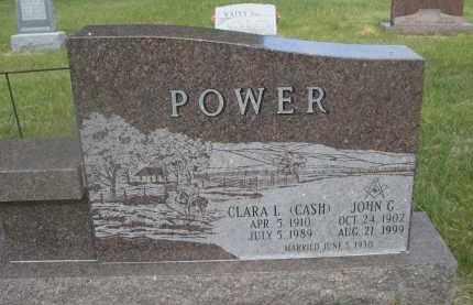 CASH POWER, CLARA L. - McPherson County, Nebraska | CLARA L. CASH POWER - Nebraska Gravestone Photos