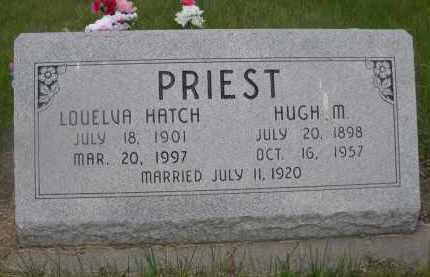 PRIEST, HUGH M. - McPherson County, Nebraska | HUGH M. PRIEST - Nebraska Gravestone Photos