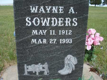 SOWDERS, WAYNE A. - McPherson County, Nebraska | WAYNE A. SOWDERS - Nebraska Gravestone Photos