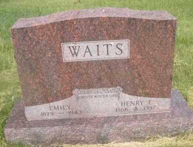 WAITS, EMILY - McPherson County, Nebraska | EMILY WAITS - Nebraska Gravestone Photos