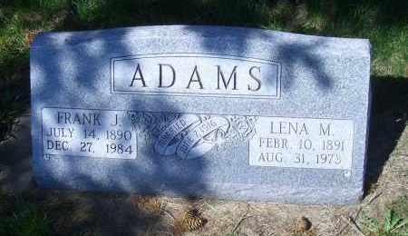 ADAMS, FRANK J - Madison County, Nebraska | FRANK J ADAMS - Nebraska Gravestone Photos