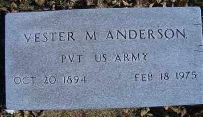 ANDERSON, VESTER M - Madison County, Nebraska | VESTER M ANDERSON - Nebraska Gravestone Photos