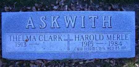 ASKWITH, HAROLD MERLE - Madison County, Nebraska | HAROLD MERLE ASKWITH - Nebraska Gravestone Photos