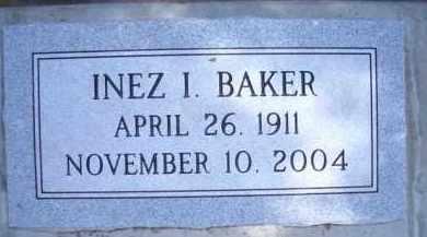 BAKER, INEZ I - Madison County, Nebraska | INEZ I BAKER - Nebraska Gravestone Photos