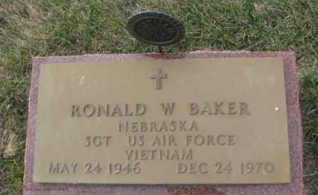 BAKER, RONALD W. (MILITARY MARKER) - Madison County, Nebraska   RONALD W. (MILITARY MARKER) BAKER - Nebraska Gravestone Photos