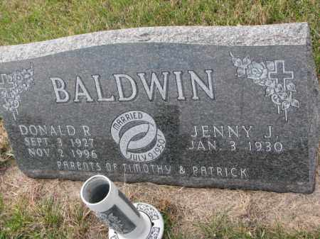 BALDWIN, JENNY J. - Madison County, Nebraska | JENNY J. BALDWIN - Nebraska Gravestone Photos