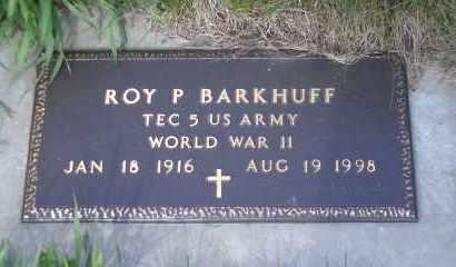BARKHUFF, ROY P (MILITARY) - Madison County, Nebraska | ROY P (MILITARY) BARKHUFF - Nebraska Gravestone Photos