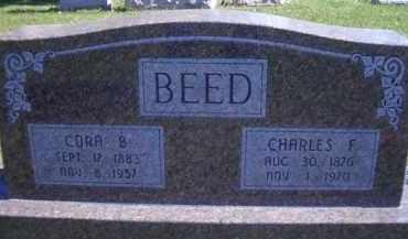 BEED, CHARLES F - Madison County, Nebraska | CHARLES F BEED - Nebraska Gravestone Photos