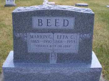 BEED, EFFA C - Madison County, Nebraska   EFFA C BEED - Nebraska Gravestone Photos