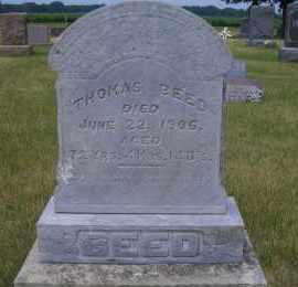 BEED, THOMAS - Madison County, Nebraska | THOMAS BEED - Nebraska Gravestone Photos