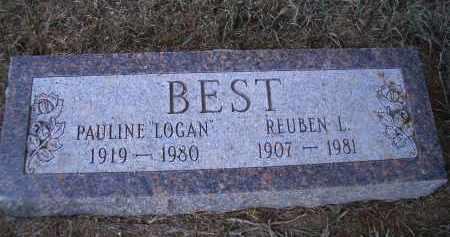 LOGAN BEST, PAULINE - Madison County, Nebraska | PAULINE LOGAN BEST - Nebraska Gravestone Photos