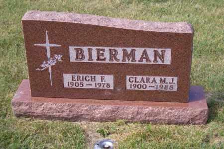 BIERMAN, ERICHJ F. - Madison County, Nebraska | ERICHJ F. BIERMAN - Nebraska Gravestone Photos
