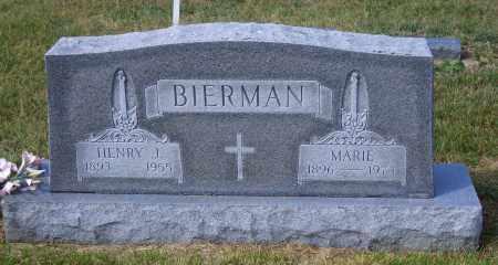 BIERMAN, MARIE - Madison County, Nebraska   MARIE BIERMAN - Nebraska Gravestone Photos
