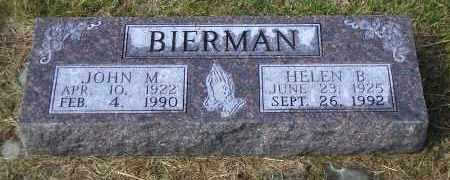 BIERMAN, JOHN M. - Madison County, Nebraska | JOHN M. BIERMAN - Nebraska Gravestone Photos