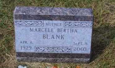 SCHLECHT BLANK, MARCELE BERTHA - Madison County, Nebraska | MARCELE BERTHA SCHLECHT BLANK - Nebraska Gravestone Photos