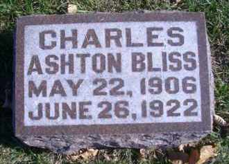 BLISS, CHARLES ASHTON - Madison County, Nebraska | CHARLES ASHTON BLISS - Nebraska Gravestone Photos