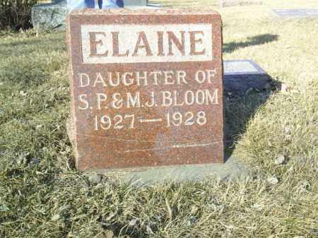 BLOOM, ELAINE - Madison County, Nebraska   ELAINE BLOOM - Nebraska Gravestone Photos