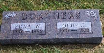 VOLK BORCHERS, EDNA W. - Madison County, Nebraska   EDNA W. VOLK BORCHERS - Nebraska Gravestone Photos