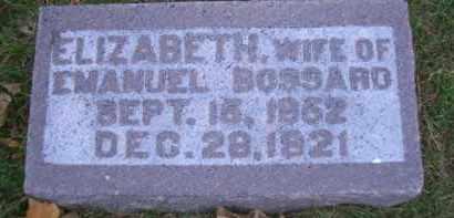 BOSSARD, ELIZABETH - Madison County, Nebraska | ELIZABETH BOSSARD - Nebraska Gravestone Photos