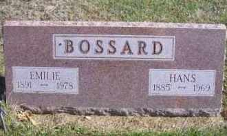 BOSSARD, HANS - Madison County, Nebraska | HANS BOSSARD - Nebraska Gravestone Photos