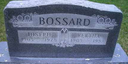 BOSSARD, BERTHA - Madison County, Nebraska | BERTHA BOSSARD - Nebraska Gravestone Photos