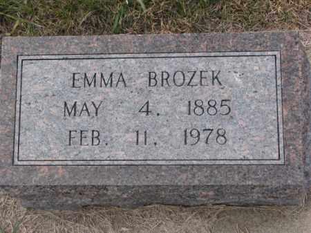 BROZEK, EMMA - Madison County, Nebraska | EMMA BROZEK - Nebraska Gravestone Photos